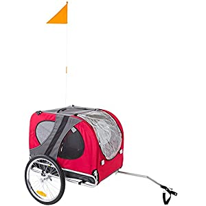 Rage Powersports Red Pull-Behind Dog Bicycle Trailer Pet Carrier 5