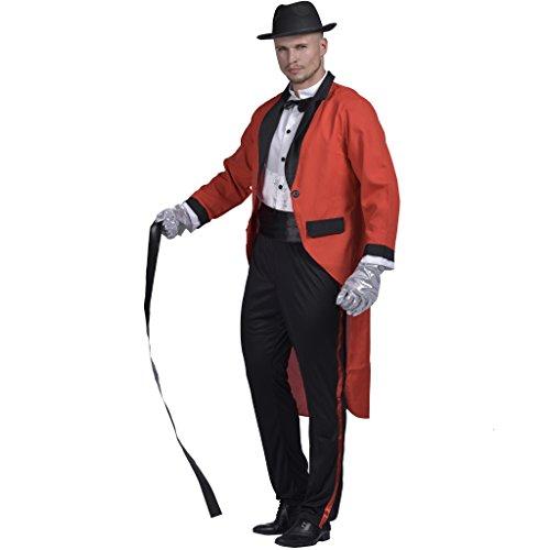 Lion Tamer Costume Male (EraSpooky Men Ringmaster Costume Adult Circus Lion Tamer Halloween Fancy Dress)