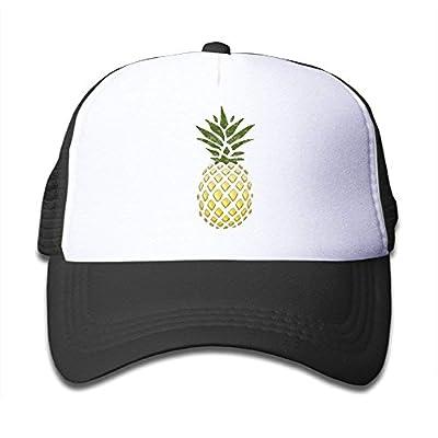 roylery Kids Gold Pineapple Trucker Hats,Youth Mesh Caps,Snapback Baseball Cap Hat