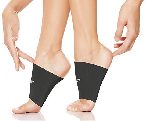 Physix Gear Arch Supports for Plantar Fasciitis – Best Foot Sleeve for Foot Arch Support & Arch Support Brace – Unisex Arch Support Sleeve – Compression Arch Sleeves, Foot Arch Supports Black M