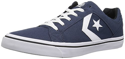 Converse Men's El Distrito Canvas Low Top Sneaker, Navy/White/Black, 11.5 M US (Star Low Shoes)