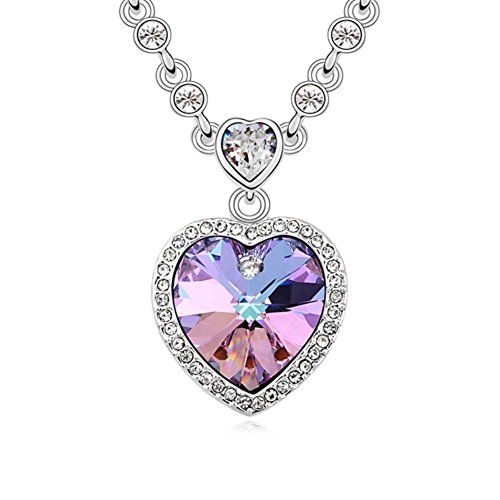 NL-07080C2 2016 Alloy Europe Heart-Shaped Inlaid Crystal Women Necklace - Belly Dance Costumes London