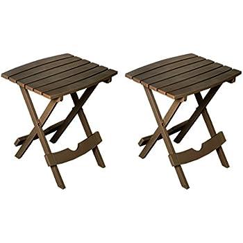 Amazon.com: vidaXL – Mesa auxiliar de madera de acacia al ...