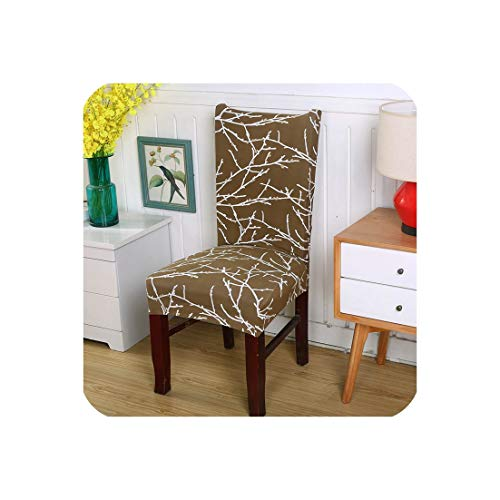 Elastic Dining Chair Cover Stretch Removable Anti dust Seat Cover Protector Cover Party Banquet Seat Cases stoelhoezen eetkamer,Color 24,Universal ()