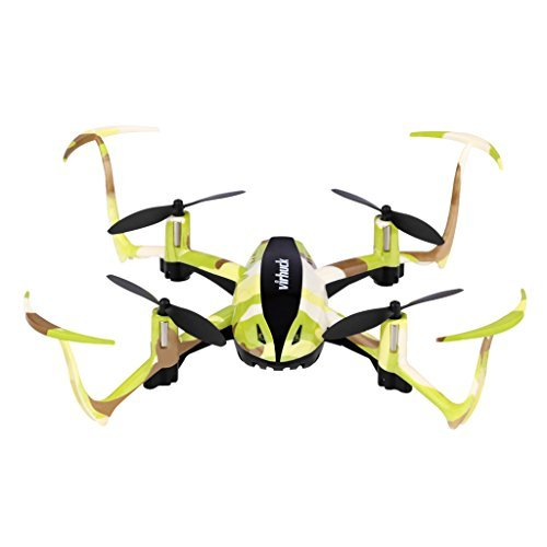 Virhuck T915 Toy for Kid Mini RC Drone 2.4 GHz 4 CH 6 Axis Gyro System LED Lights Headless / Inverted Flight / One Key Return Mode Quadcopter Camouflage (Green)