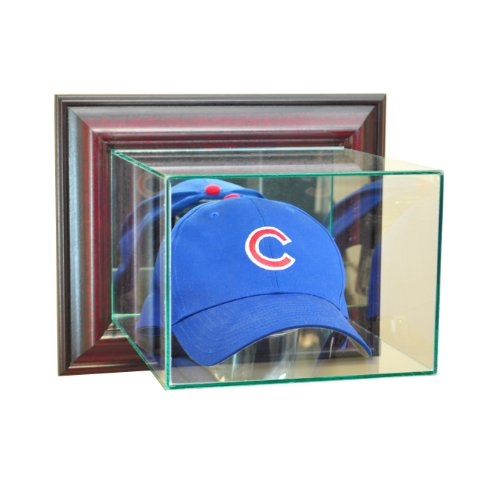 Hat Case Display Cap (Perfect Cases MLB Wall Mounted Cap/Hat Glass Display Case, Cherry)
