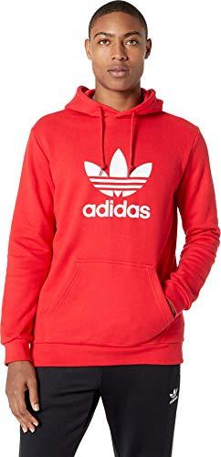 adidas Originals Men's Trefoil Hoodie Collegiate Red Small (Hoodie Red)