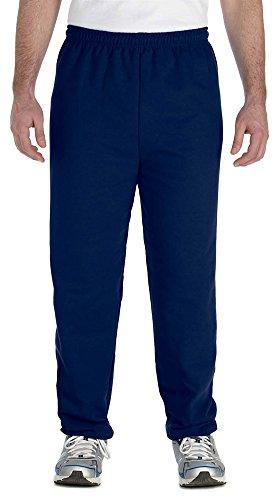 Gildan Heavy Blend 8 oz, 50/50 Sweatpants, Small, Navy (Polyester 8 Ounce Sweatpants)