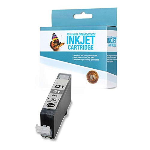 SuppliesOutlet Compatible Ink Cartridge Replacement for Canon CLI-221GY (Gray,1 Pack)