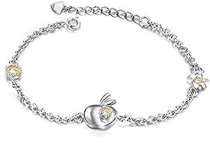 Women champagne zircon platinum Plated bracelet(DS810)