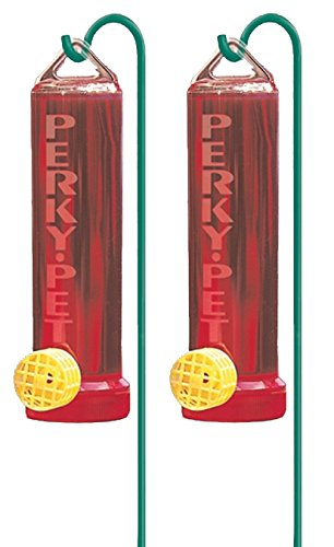 (2 Pack) Perky-Pet 215P Planter Box 3-Ounce Plastic Hummingbird Feeder with Hanging Rod -