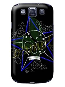 Comfortable grip S3 Case, Samsung Galaxy S3 i9300 Case skull design with original packaging