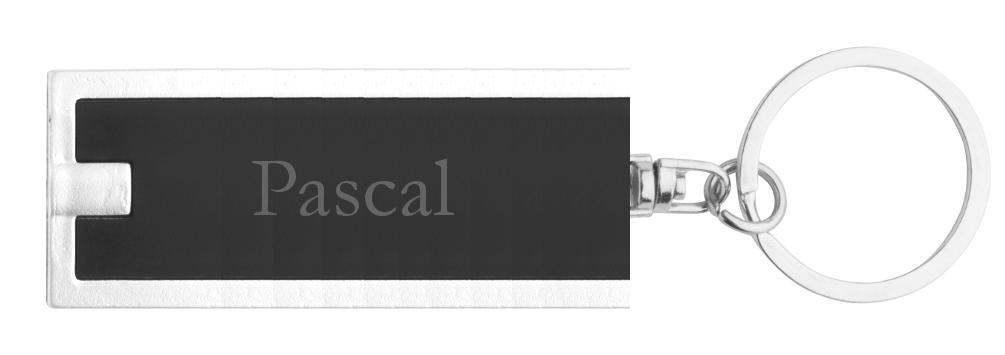 Vorname//Zuname//Spitzname Personalisierte LED-Taschenlampe mit Schl/üsselanh/änger mit Aufschrift Pascal