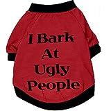 Pet Shirt Daoroka Small Large Dog Cat Costume Puppy Vest Summer Letter Sweatshirt Girl Boy Pet Clothes Fashion Apparel (L, Red)