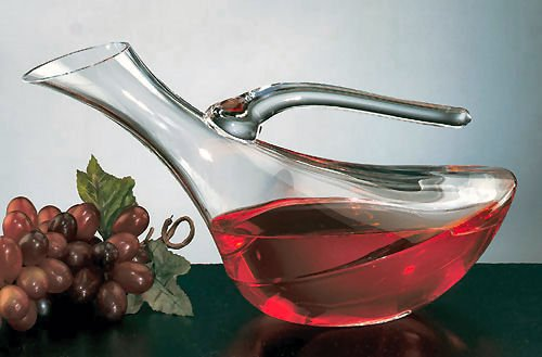 Badash Lead Crystal Decanter - Badash Crystal Mallard Wine Carafe 32 Ounces