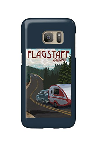 Flagstaff, Arizona - Retro Camper on Road (Galaxy S7 Cell Phone Case, Slim Barely There)