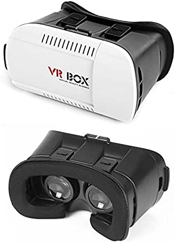 VR Box Virtual Reality 3D Glass for 3D Games and 3D Movies, Black & White