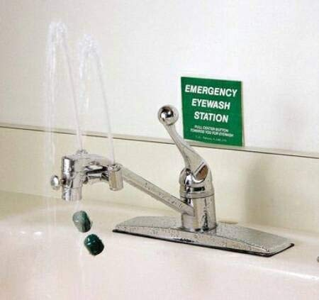 Emergency Eyewash Station, Faucet Mounted, Continuous ()