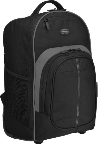 Targus Compact Rolling Backpack for Laptops up to 16-Inch/MacBook Pros up to 17-Inch, Black (TSB750US), Bags Central