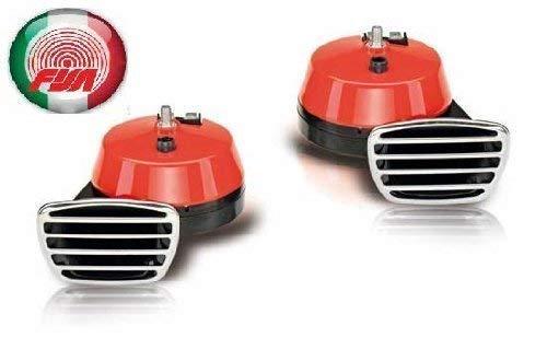 FISA Fanfare Zweiklang Elektro rot 112 dB Markenware Italien