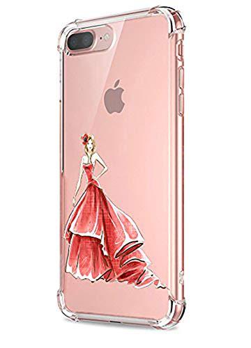 Price comparison product image Beryerbi iPhone 7 Plus Case Clear Soft TPU Anti-Drop Protective Cover (iPhone 7 Plus, 3)