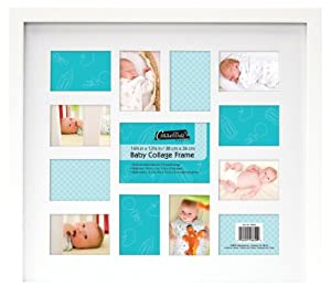 mcs 46649 12 month baby collage frame in white