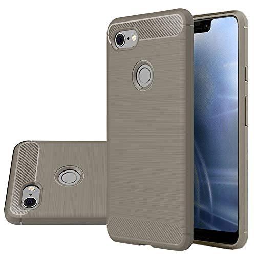 Google Pixel 3 XL Case, Vinve [Slim Thin] Carbon Fiber TPU Shock Absorption Anti-Scratches Flexible Soft Protective Case Cover for Google Pixel 3 XL(Grey)