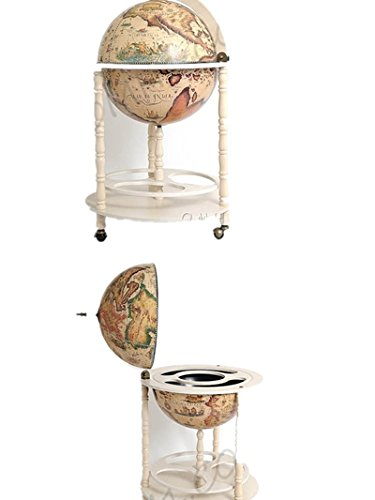 Globe Drinks Cabinet 45Cm Floor Stand-White by OMHUSA (Image #1)