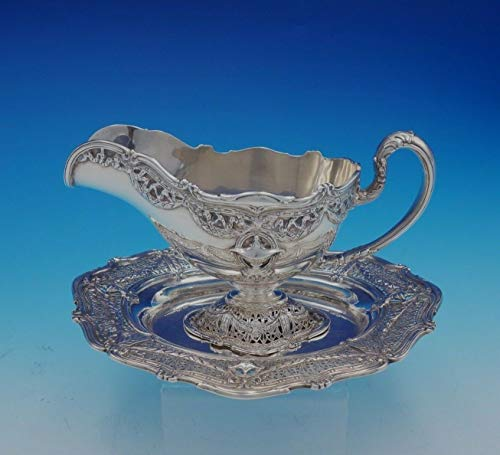 Adam by Shreve Sterling Silver Gravy Boat with Underplate #8044/#4960 (#3384)