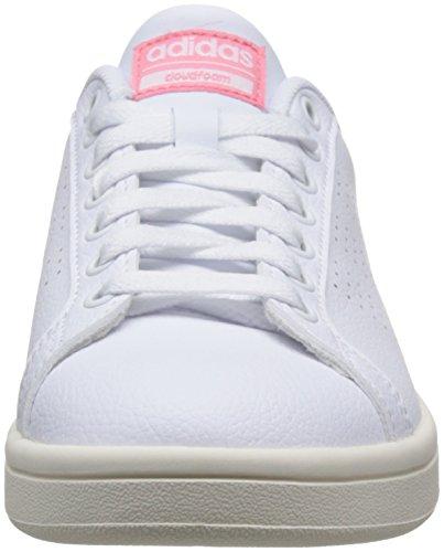 ray footwear Pink W White White Cloudfoam Advantage Clean footwear Ginnastica Adidas Basse Da Scarpe Donna Bianco R6vgna