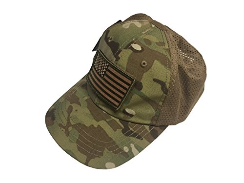 Condor Multicam Mesh Tactical Cap   USA Flag Patch Stitching   Excellent  Fit for Most Head ec2224f05ab6