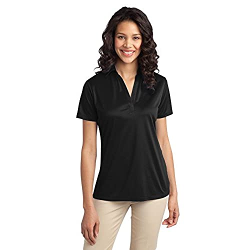 Port Authority Womens Silk Touch Performance Polo M Black