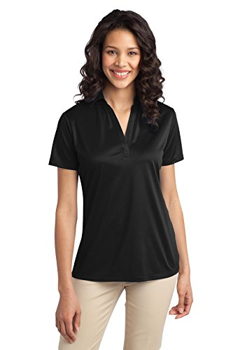Port Authority Women's Silk Touch Performance Polo M Black from Port Authority