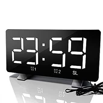 TuToy Digital Fm Radio Dimmer Led Alarmas Duales Puerto De Carga Usb Despertador - Azul: Amazon.es: Industria, empresas y ciencia
