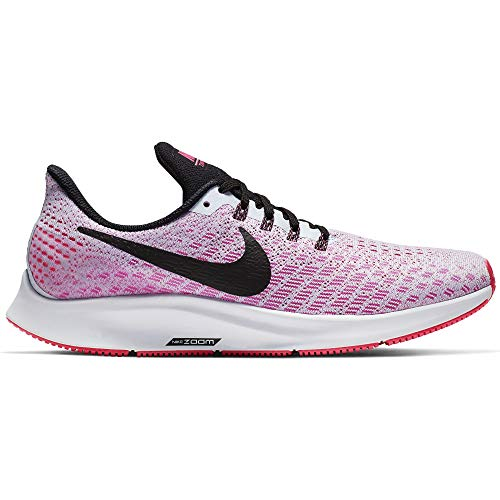 Nike Air Zoom Pegasus 35 Women's Running Shoe Half Blue/Black-Hyper Pink-White 8.0