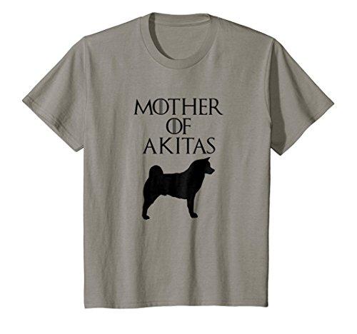 Slate Akita (Kids Cute & Unique Black Mother of Akitas T-shirt E010552 8 Slate)