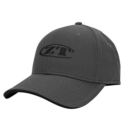 Zero Tolerance L/XL Charcoal Ball Cap with Dark Gray-Tipped Bill; Embroidered Brand Logo; All-Cotton Structured Twill; 6-Panel Construction with Top-Stitching on Cap; Eight Rows of Stitching on Bill ()