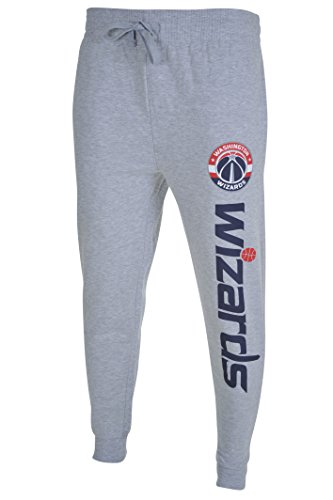 fan products of NBA Men's Washington Wizards Jogger Pants Active Basic Soft Terry Sweatpants, Medium, Gray