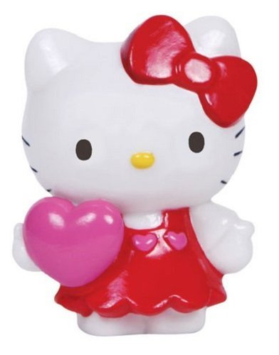 Precious Moments Wall Stickers (Precious Moments Hello Kitty Love You with Pink Heart Porcelain Mini Figurine)