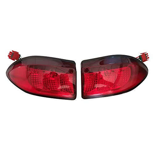 Club Car Precedent LED Taillight Tail Light 2004-up Rear Light 12V 3 Wires,(2) Tail Light kit Replacements (Club Car Golf Cart Tail Lights)