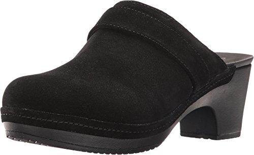 crocs Women's Sarah Suede Clog Mule, Black, 9 M (Black Womens Clogs)
