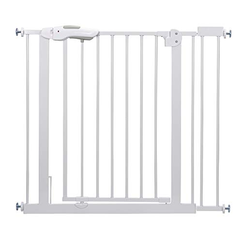 """Extra Wide & Tall Safety Baby Gate – BabyElf 37"""" Adjustable Walk Thru Gate, Baby and Pet Gate for House, Doorways…"""