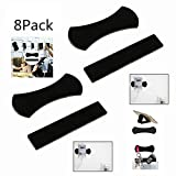 QQ Smart Digital Sticky Gel Pad,8 pcs Sticky Gel Pad,Powerful Strong Holder Stick Glue Anywhere Wall Sticker Anti Slip Washable Repeatedly Nano Rubber Pad for cell phone ipad GPS and more (8PCS)