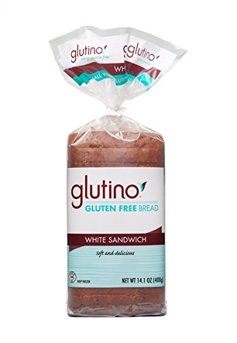 Glutino White Sandwich Bread 14.1 Oz, Pack of 18 by Glutino