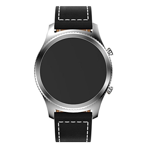 Price comparison product image Teresamoon Watch Band Strap PU Leather Wristband For Samsung Gear S3 Frontier (BK)