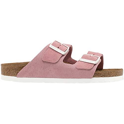 (Birkenstock Arizona Soft Footbed Rose Suede Sandals 39 (US Women's 8-8.5))