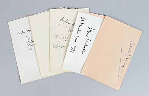 Political & Military Signed Lot (5) Vintage Album Page Parchment Cuts – Harold Alexander, Claude Auchinleck etc. (JSA)