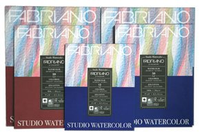 Fabriano Paper - Fabriano 140 Lb (300 gsm) Cold Press Watercolor Pad 11 x 14 inch 12 sheets