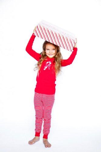 Skylar Luna Candy Cane Long Sleeve Pajamas Candy Cane 2T -Kids - Luna Family Set