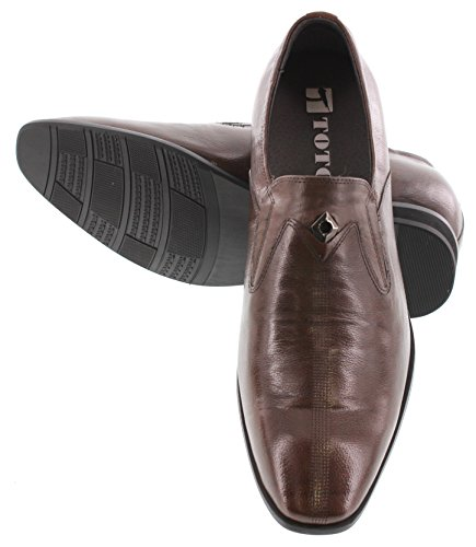 Toto H09061-2.8 inches Taller - height Increasing Elevator Shoes - Dark Brown Leather Dress Shoes ZdZN6kAgZG